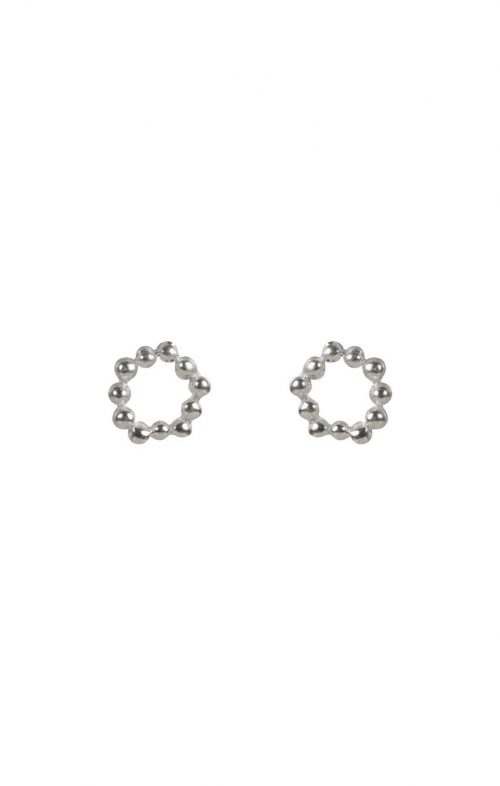 FAIRLEY EARRINGS ATOM STUDS SILVER
