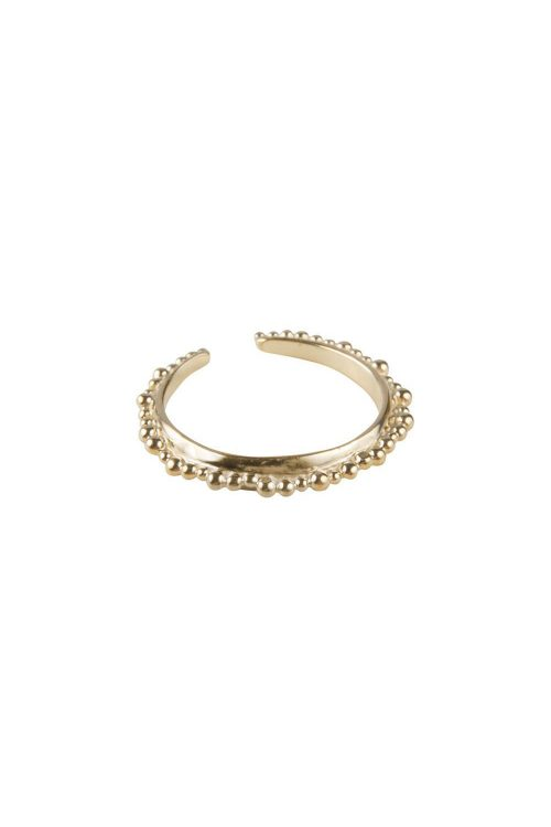 FAIRLEY RING CROWN STACKER GOLD SIZE 7