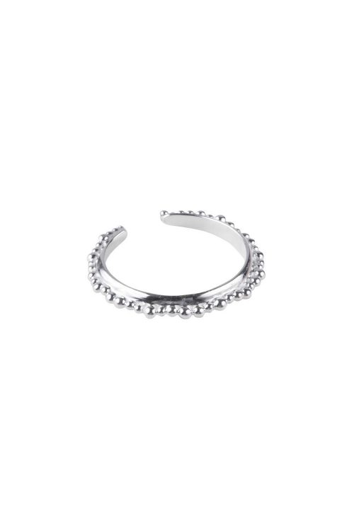 FAIRLEY RING CROWN STACKER SILVER SIZE 7
