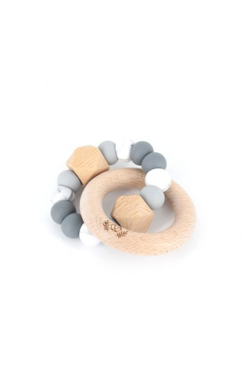 LLUIE HEXX TEETHING RATTLE GREY OMBRE