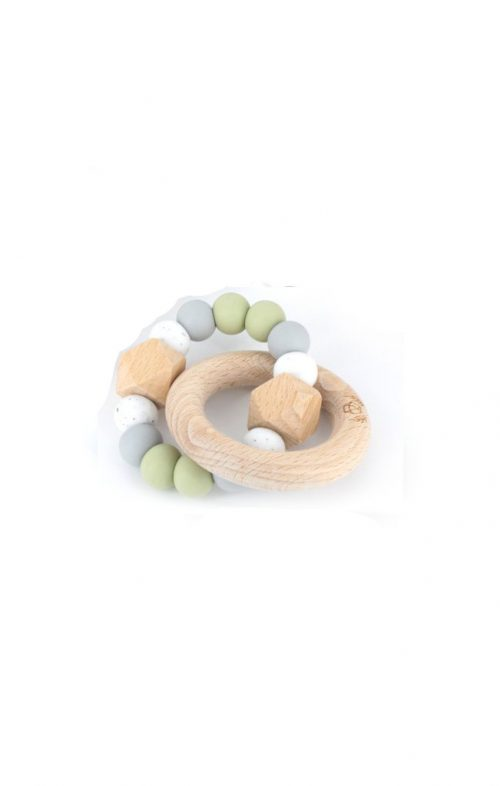 LLUIE HEXX TEETHING RATTLE SAGE