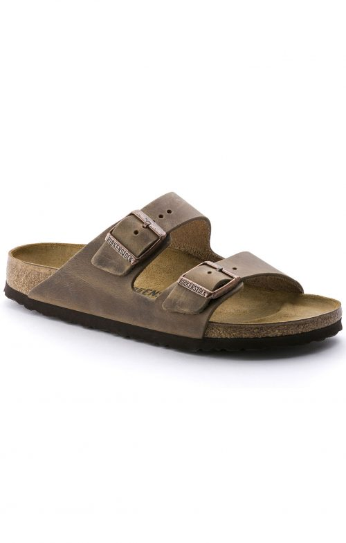 birkenstock arizona tobacco brown oil leather
