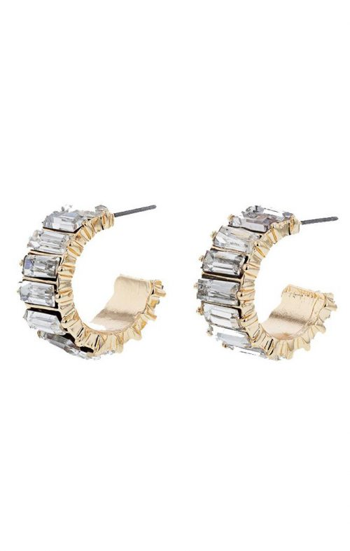 JOLIE & DEEN VALERIE CRYSTAL EARRINGS