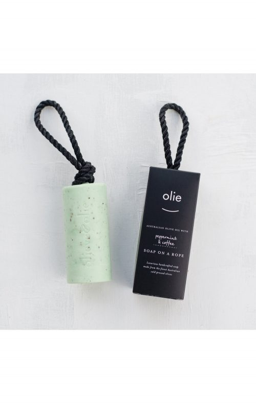 OLIEVE & OLIE SOAP ON A ROPE PEPPERMINT COFFEE