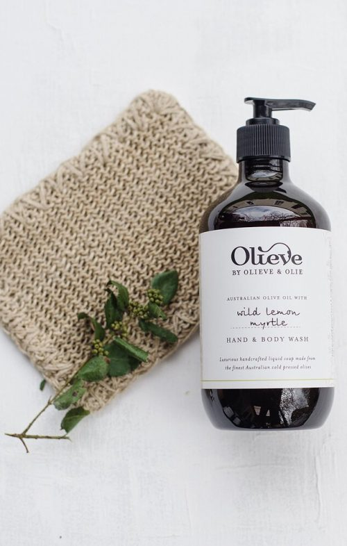 olieve olie hand body wash lemon myrtle