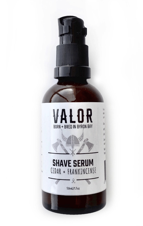 SHAVE WITH VALOR ORGANIC SHAVING SERUM