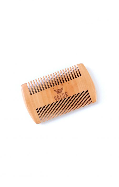 SHAVE WITH VALOR WOODEN BEARD COMB