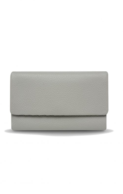 STATUS ANXIETY AUDREY WALLET PEBBLE GREY