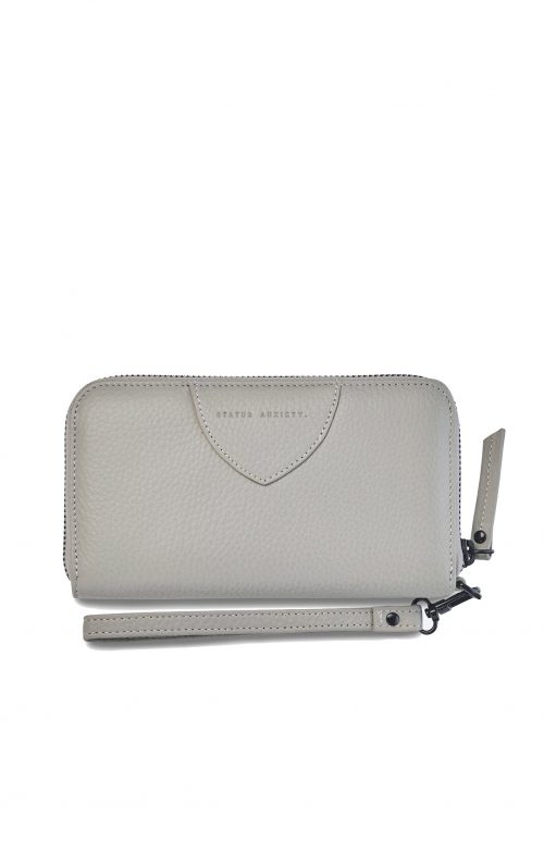 status anxiety moving on wallet light grey