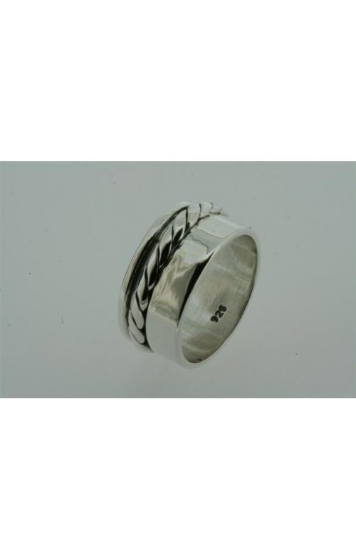 ALAN MYERSON SILVER ROPE SPINNER RING