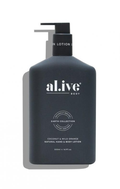 ALIVE BODY HAND LOTION COCONUT WILD ORANGE