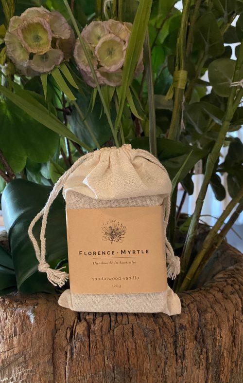 FLORENCE AND MYRTLE SOAP SANDALWOOD VANILLA