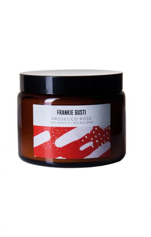 FRANKIE GUSTI HONEYS BIG CANDLE PROSECCO ROSE