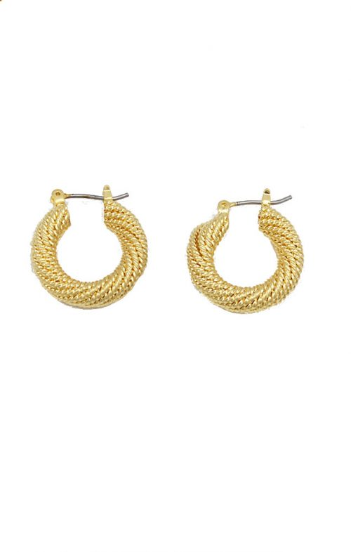JOLIE & DEEN ROMY GOLD HOOP EARRINGS