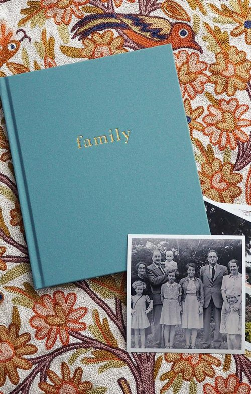 WRITE TO ME OUR FAMILY BOOK TEAL