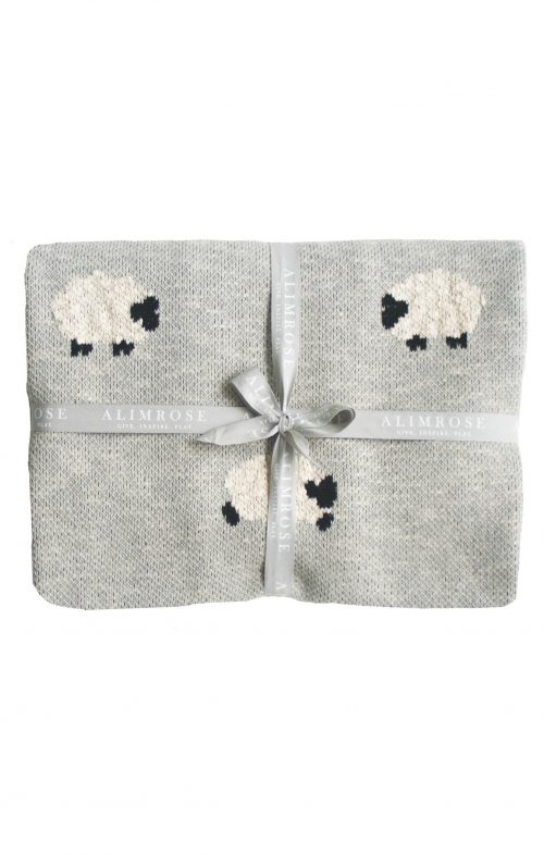 ALIMROSE BABY BLANKET ORGANIC BAA SHEEP GREY