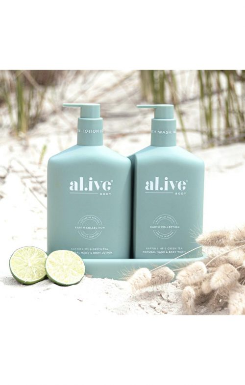 ALIVE BODY DUO SET KAFFIR LIME GREEN TEA