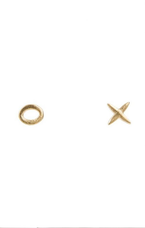 FAIRLEY JEWELLERY KISS HUG STUDS GOLD