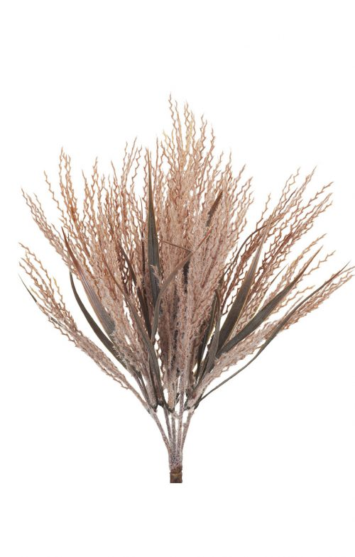 ARTIFICIAL PLUME GRASS BUSH DUSTY PINK