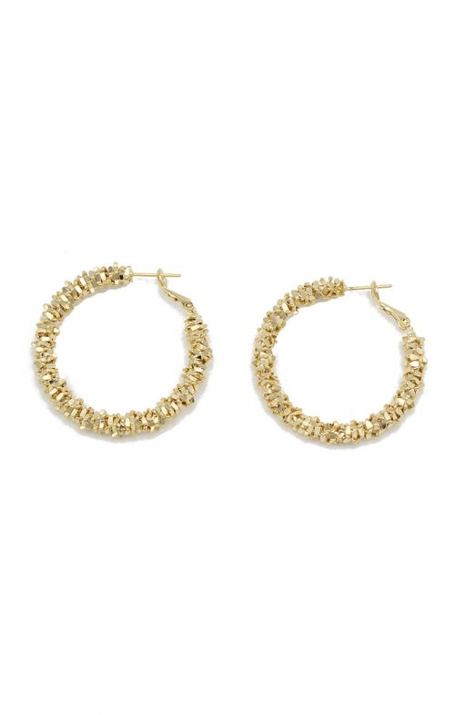 JOLIE & DEEN ELLE HOOP EARRINGS GOLD