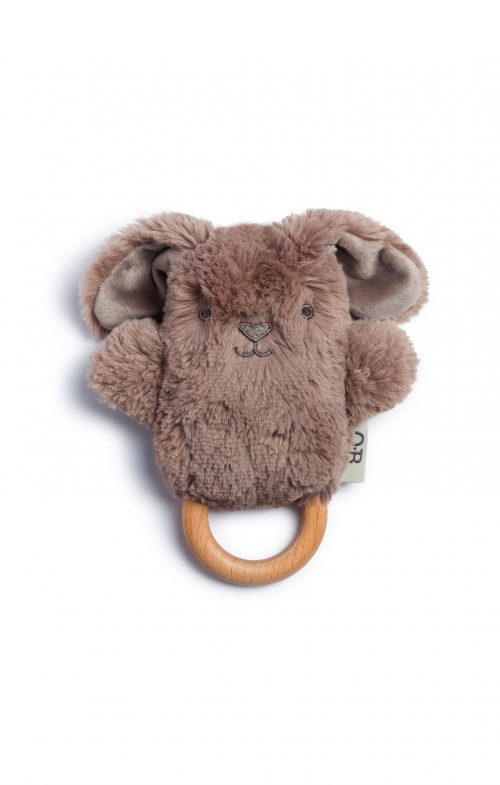 ob designs byron bunny taupe wooden teether