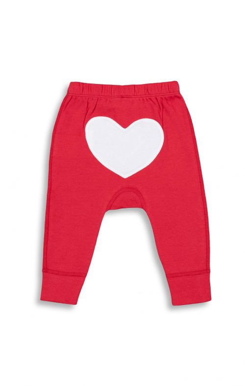 SAPLING CHILD APPLE HEART PANTS RED