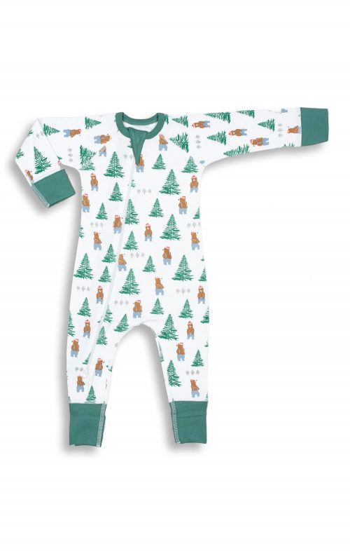 SAPLING CHILD LUMBERJACK ZIP ROMPER