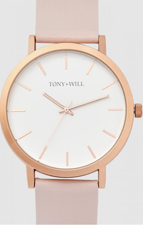 TONY WILL CLASSIC ROSE GOLD LT PINK WATCH