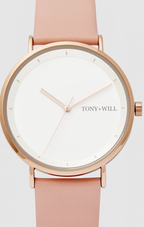 TONY WILL LUNAR WATCH ROSE GOLD LIGHT PINK