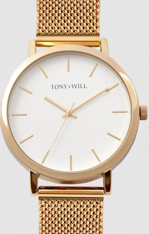TONY WILL CLASSIC MESH WATCH GOLD