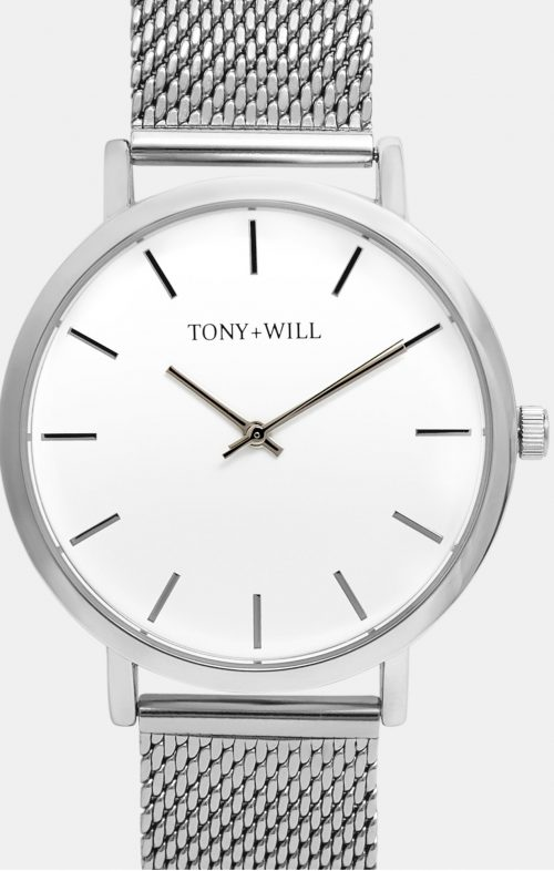 TONY WILL CLASSIC MESH WATCH SHINY SILVER