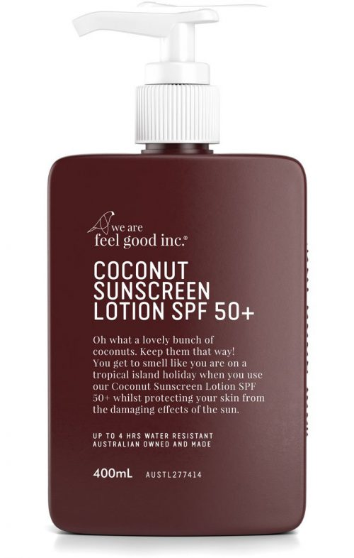 WE ARE FEEL GOOD COCONUT SUNSCREEN 50+ 400ML