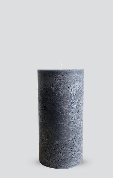 texture pillar candle grey medium