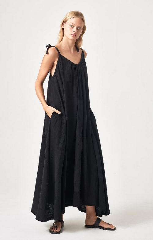 HONOUR APPAREL TIE ME MAXI BLACK