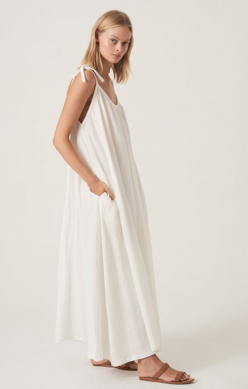 HONOUR APPAREL TIE ME MAXI WHITE