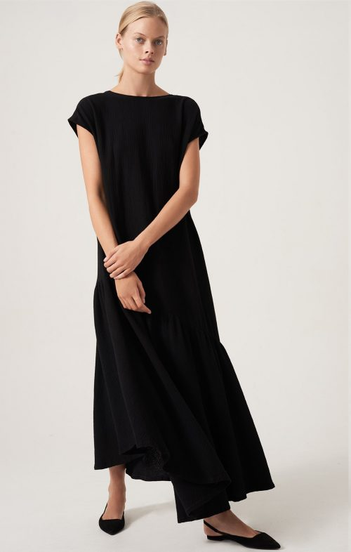 HONOUR APPAREL TWO SIDE DRESS BLACK