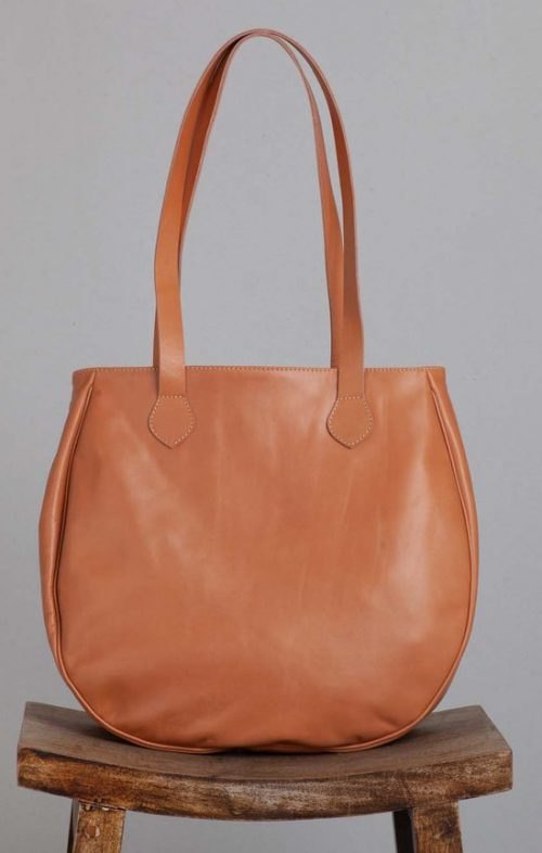 OVAE EEDIE LEATHER TOTE BAG BUTTERMILK