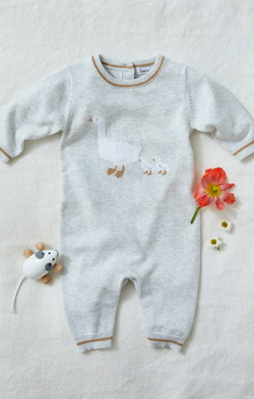 BEANSTORK GREY MOTHERGOOSE ROMPER