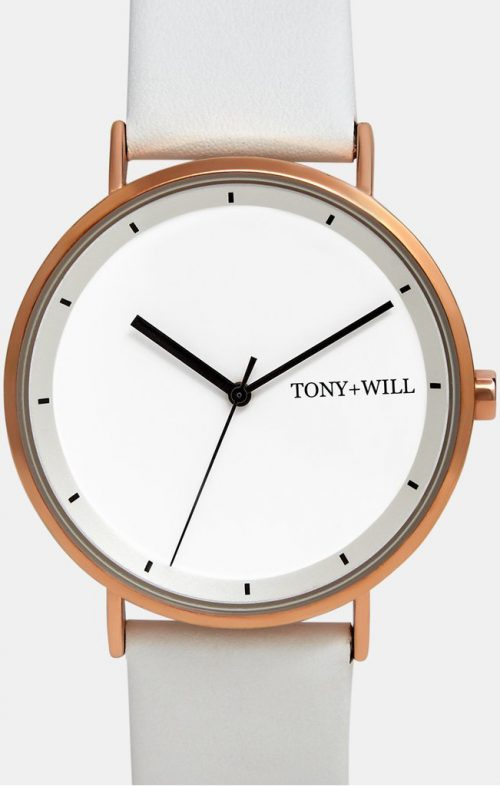 TONY WILL LUNAR WATCH ROSE WHITE WHITE