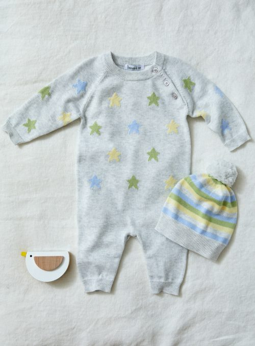 BEANSTORK SOFT STAR KNIT ROMPER