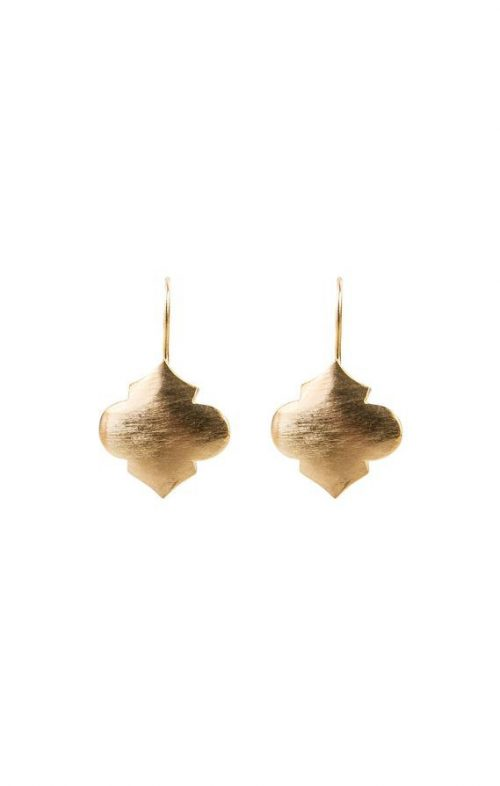 FAIRLEY EARRINGS MOROCCAN DROP GOLD