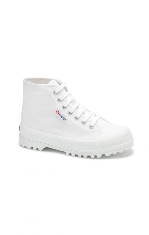 SUPERGA 2341 COTU ALPINA WHITE HIGH TOP SNEAKER