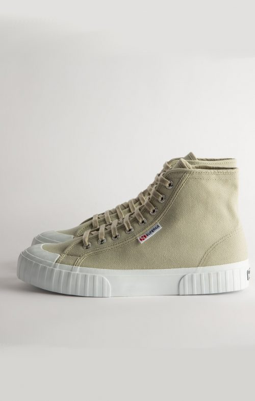 SUPERGA 2696 STRIPE HIGH TOP SNEAKER AGATE GREY