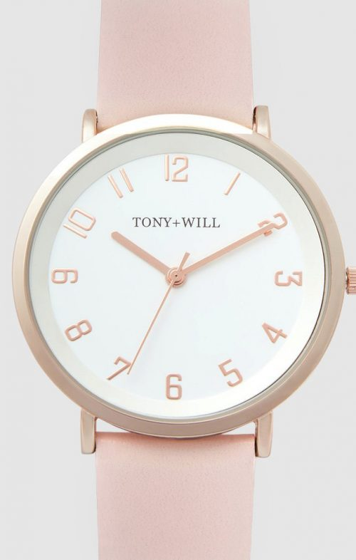 TONY WILL ASTRAL WATCH ROSE WHITE LIGHT PINK