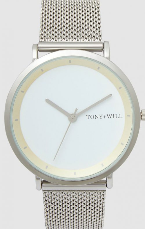 TONY WILL LUNAR MESH WATCH SILVER