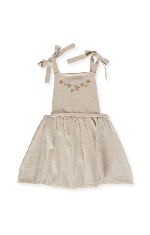 GROWN FLOWER FIELD DRESS OATMEAL