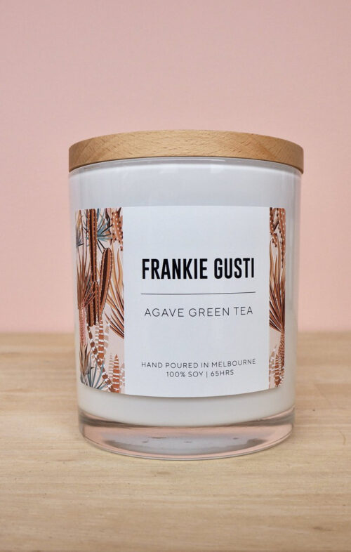 FRANKIE GUSTI AGAVE GREEN TEA CANDLE