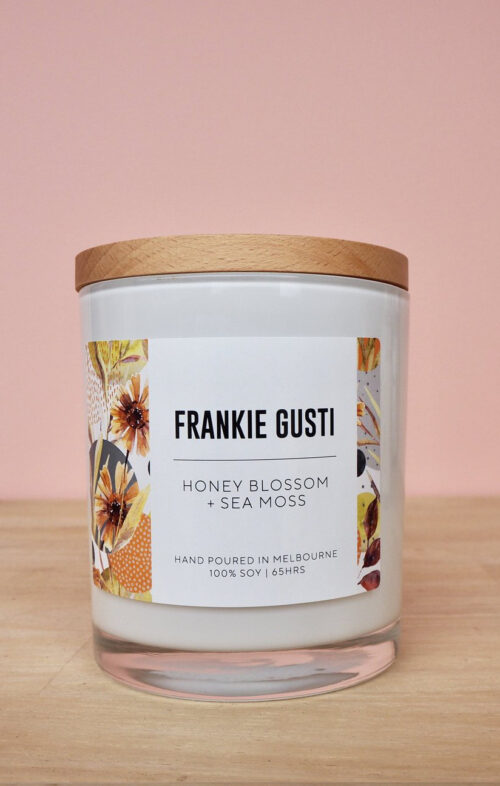FRANKIE GUSTI HONEY BLOSSOM SEA MOSS CANDLE