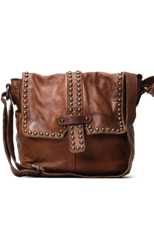 MAHSON AND CO LIVERPOOL LEATHER BAG COGNAC