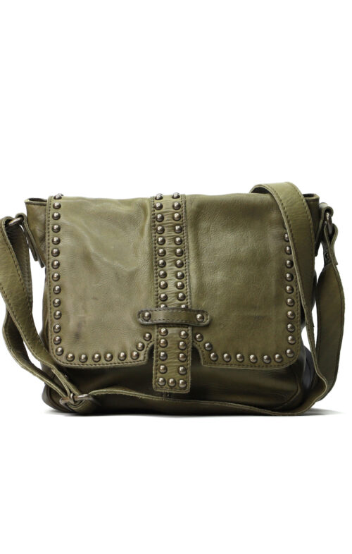 MAHSON AND CO LIVERPOOL LEATHER BAG OLIVE
